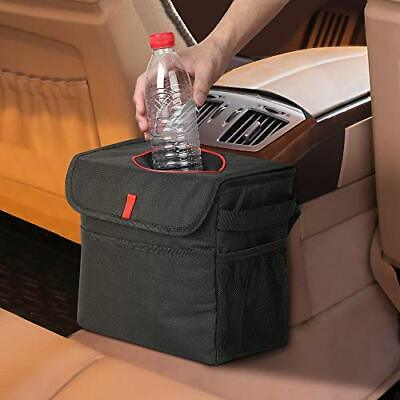 Car Rubbish Bin, Foldable and Waterproof Leak-proof Nylon Auto Trash Bag with