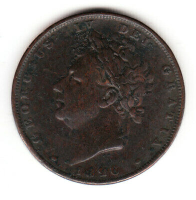 1826 Great Britain George IV SECOND HEAD Farthing Coin.