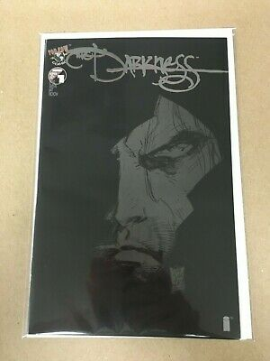 Darkness 1 Black Variant Cover With Silver Letters, Garth Ennis