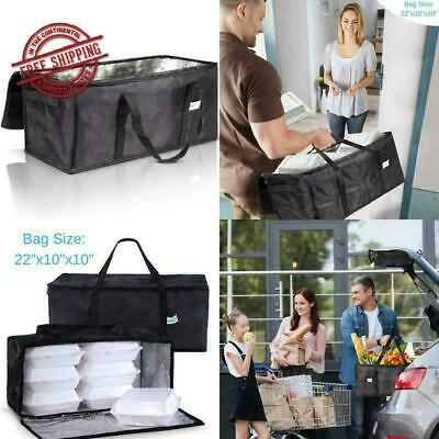 Commercial Insulated Food Delivery Warmer Bag Waterproof Foldable 22 x 10 Inch