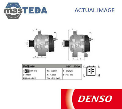 NO SURCHARGE NOT REMANUFACTURED DENSO Alternator DAN1076  BRAND NEW
