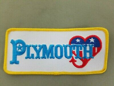 Plymouth Embroidered Iron On Automotive Patch