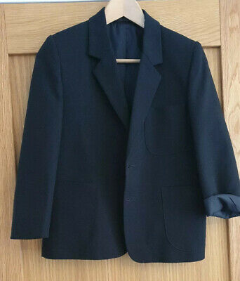 Girls Black Tailored Jacket Size 9 Years Marks and Spencers C328