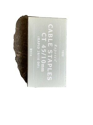 Rapesco Cable Staples CT 45/10mm White For Rapid 28 Staple Gun