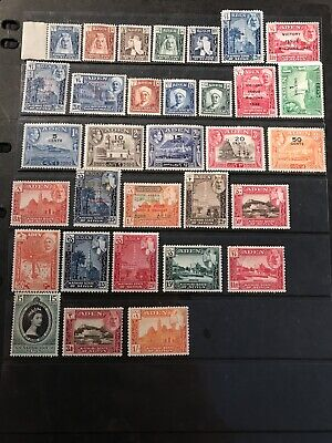 Stamps - Bc Kg6 & Qeii Aden & States (32) Mint Mix Cond & Vals All Show
