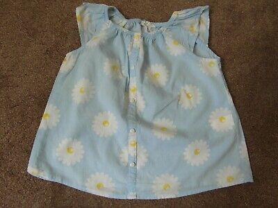 Preowned: EXCELLENT CONDITION HARDLY WORN - BLUE DAISY TOP  H&M Age 3 - 4 Year
