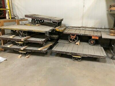 Vintage Antique Industrial Wood Warehouse Factory Carts.....