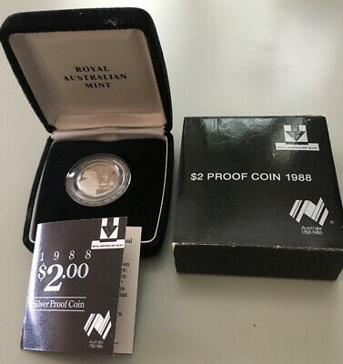 1988 Royal Australian Mint $2 Silver Proof Coin