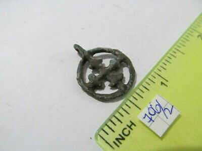 "Ancient bronze pendant ""Cross in circle"" Kievan Rus Vikings 10-13 AD №706/2"