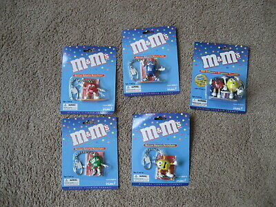 M&M'S-   5 M&M KEY CHAINS-  BRAND NEW on ORIGINAL CARDS- EXCELLENT CONDITION