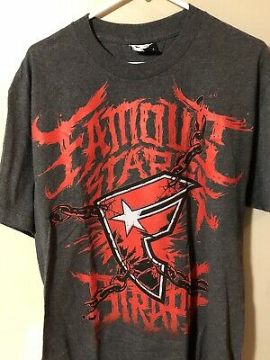 Famous Stars & Straps Large T-shirt Chains Red & Gray / Bike Bmx Surf Srh Life