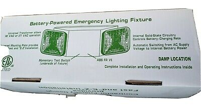 Battery Powered LED Emergency Lighting Fixture with White Housing 10-pack
