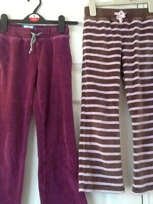Bundle of girls Mini Boden tracksuit trousers age 7-8 years