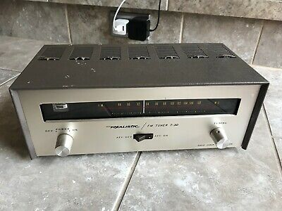 Vintage Realistic (Radio Shack) FM TUBE Tuner - Model T-3D - Recapped - EXC+