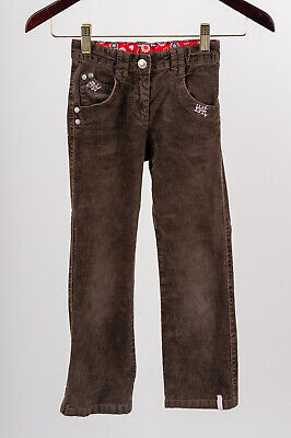 S OLIVER Girls Brown Cords Corduroy Trousers 6 7 years hips 122cm