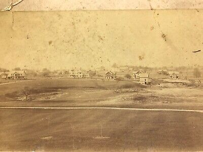 Antique Photograph Northfield MA Mass Highland Ave Victorian House Early 1900s