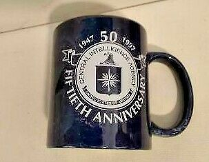 CIA 50 Year Anniversary Coffee Cup Collectable Rate  1997            j