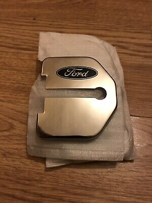 4 X Ford Stainless Steel Door Lock Covers Silver Colour