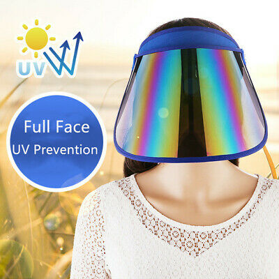 New Multi-color Face Shield Clear Visor Outdoor Sports UV Prevention Sun Hat Lot