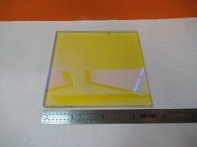 Optical Plate Coated Bk7 Glass Beam Splitter Laser Optics As Pictured &3K-A-64