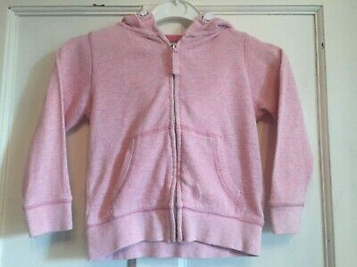 Girls Pink Zipped Long Sleeved Hoodie from Next Age 4 years