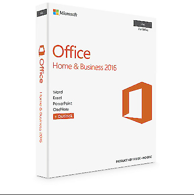 Microsoft Office Home and Business 2016 For 1 Mac including lifetime Updates.
