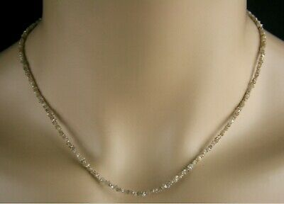 Rohdiamant Kette - Collier in champagner, 16,50 ct.