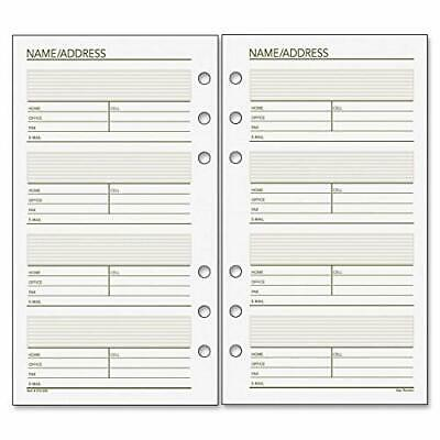 Day Runner Undated Planner Telephone and Address Refill 3.75 x 6.75 Inches 01...