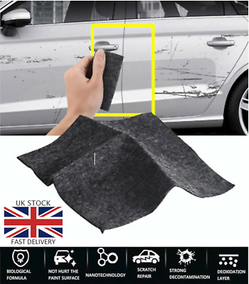 UK Car Scratch Eraser magic Scratch Repair Remover Polish Nano Cloth Surface