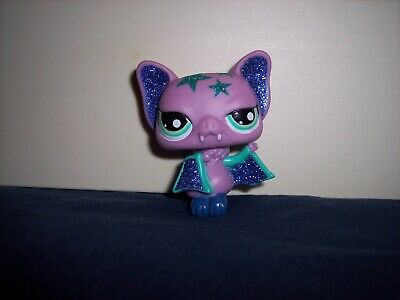 Littlest Pet Shop LPS Sparkle Glitter Stars Halloween Vampire Bat #2142 China