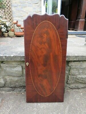 Longcase Trunk Door #2. For 288 by 605 mm aperture. Figured Mahogany/ Inlaid.
