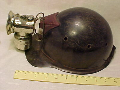 Hat Cap...mine Miner Mining...hard Helmet With Carbide Lamp...early 1900'S