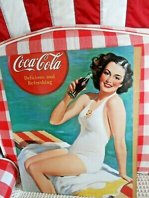 Coca-Cola Girl on Diving Board Wall Decal 16 X 20  Bathing Beauty Dated 1997