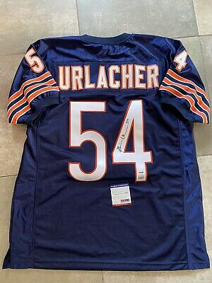 Maillot NFL Chicago Bears Brian Hurlacher Signed Avec COA PSA DNA Signé Vintage