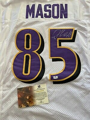 Maillot NFL Signed Derrick Mason Baltimore Ravens With COA Global Authentics