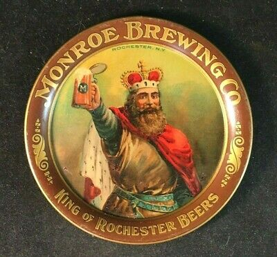 Vintage MONROE BREWING CO. TIP TRAY Rare Old Advertising Sign