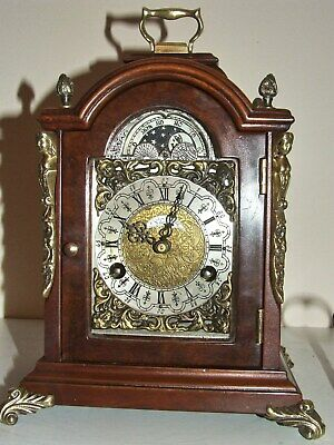 Warmink English/Dutch Bracket Mantel Clock,8 day,Pendulum,Moon phase,2 Bells