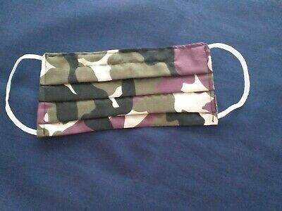 FACE MASK CAMOUFLAGE.Washable,Hand Made,Double Sided Cotton,Various Designs