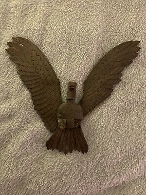 Antique Wooden Clock Accessory Flying Eagle For Restoration