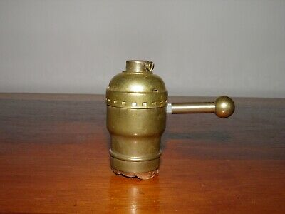 Antique/Vintage,solid brass, LEVITON, dimmer switch, lamp socket. Tested! Works!