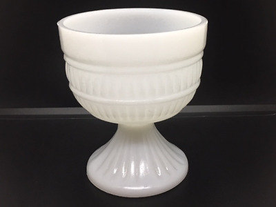 Vintage Milk Glass White Round Floral Vase