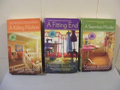 Lot of 3 MELISSA BOURBON -Cozy Mystery - 2 5 6 Magical Dressmaking pbs FREE SHIP