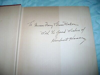 1934 Herbert Hoover Signed Book -The Challenge To Liberty & Clippings -Must See