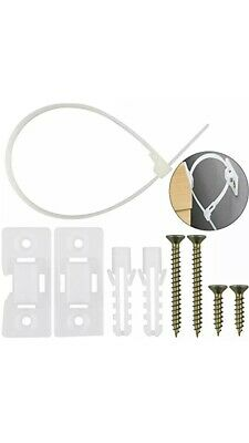 20 Pack Furniture Straps Baby Proofing Anti Tip Anchors Kit, Adjustable Nylon