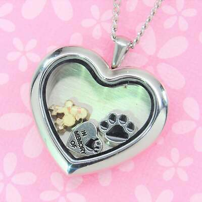Poodle Heart Memory Locket Necklace | Dog Keepsake Jewelry | Engravable Memorial