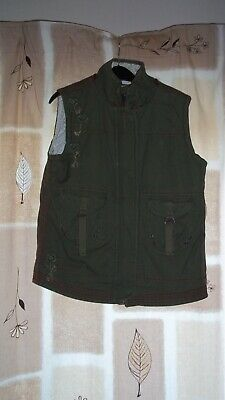 Girls Olive Coloured Body Warmer By Fat Face Age 10-11