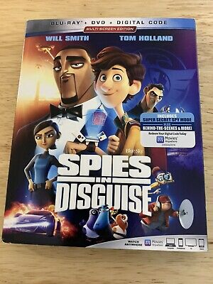 Spies In Disguise (Blu-ray + DVD + Digital)) Brand New,Factory Sealed, Free S/H