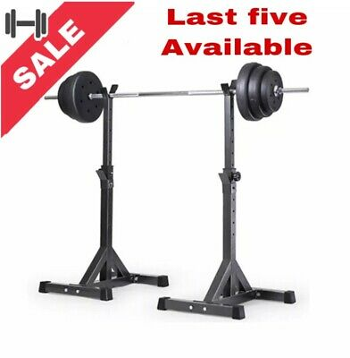 Heavy 2pcs Adjustable Rack Standard Squat Bench Stands Barbell Home gym fitness