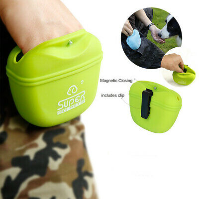 Pet Dog Obedience Training Mini Treat Bag Puppy Food Snack Pouch Feed Silicone