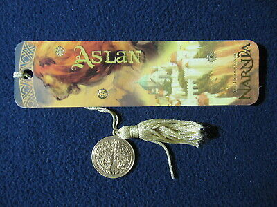 Aslan (Narnia) Book Mark with Coin and Tassle
